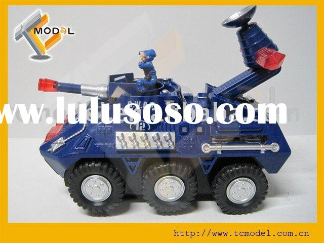 TC-803A  Mini Universal armored vehicles Rescue Emergency tank model with LED lights