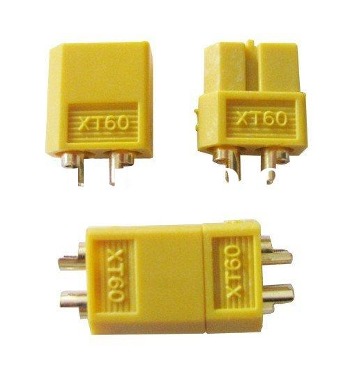 XT60 connector,battery connector,Gold-plated plug,r/c hobby Connectors