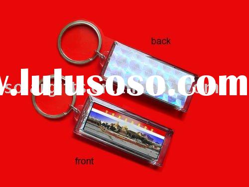 waterproof solar power key chain holder with key ring