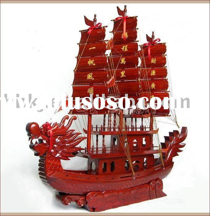 wooden model ship(Dragon boat)