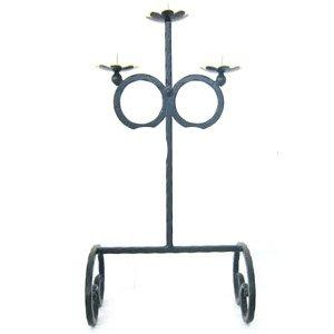 wrought iron-candle holder