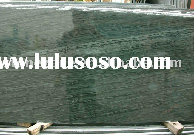 Chinese green wood vein marble tiles and slabs