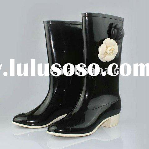 Designer Rain Boot,Leather Boot for Women