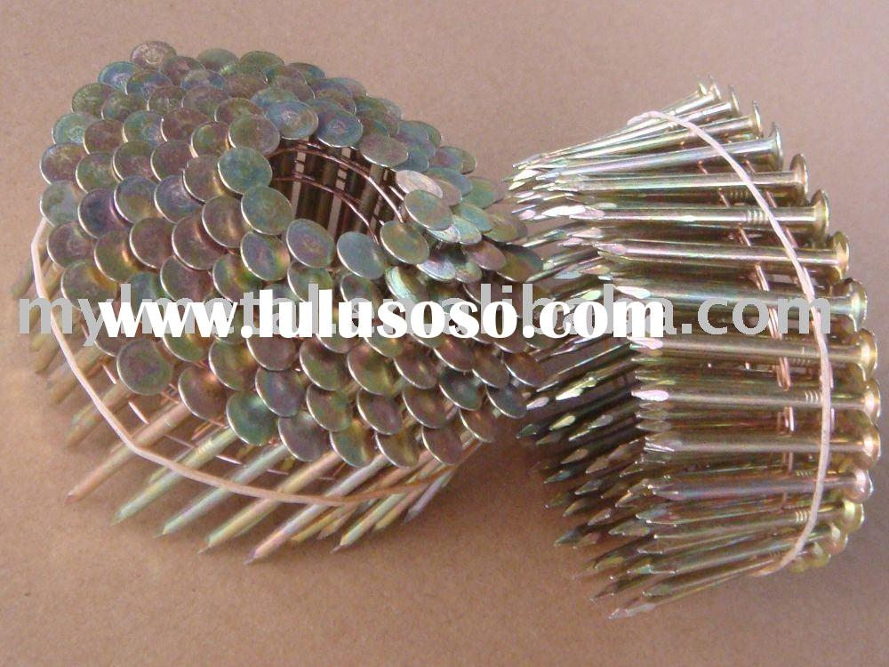Galvanized roofing coil nails