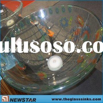 Painting glass bowl