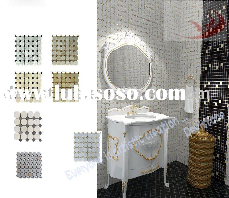 White marble mosaic wall tile(DYSM01)