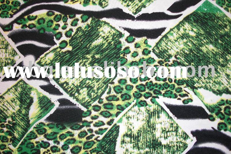 dty printed knitted fabric