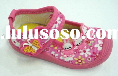 girl baby shoes with pvc injection sole