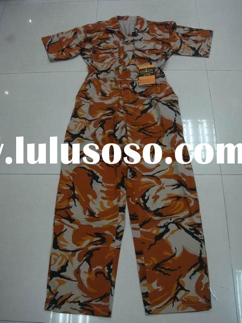 military camouflage overall