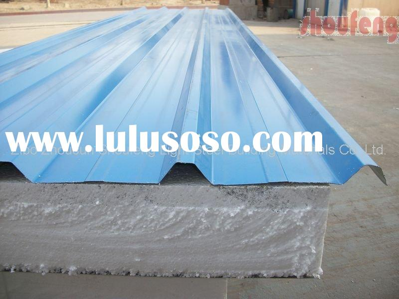 150 mm thickness EPS color steel insulation sandwich panel