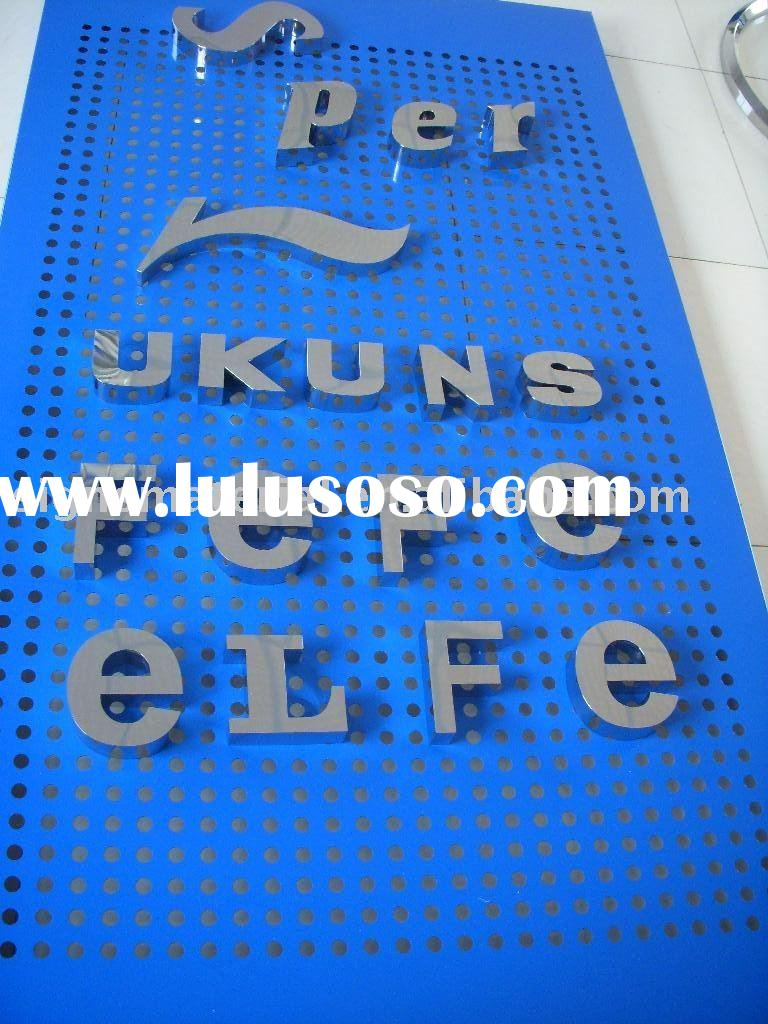316# Mirror Stainless Steel Letter / Logo For Outdoor Sign Board
