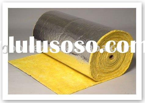 Fire resistance reinforced aluminum foil faced thermal insulation glass wool blanket