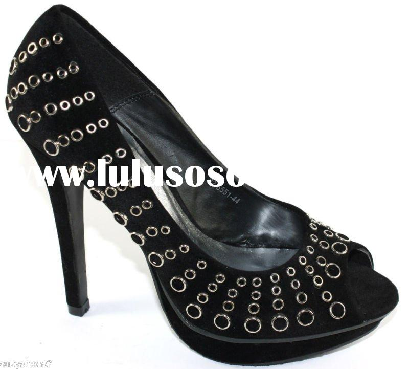 NEW WOMENS BLACK HIGH STILETTO SHOES SIZE 5 38