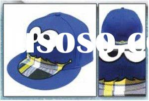 Sesame Street:Cookie Monster Plaid Flat Bill Flex Cap
