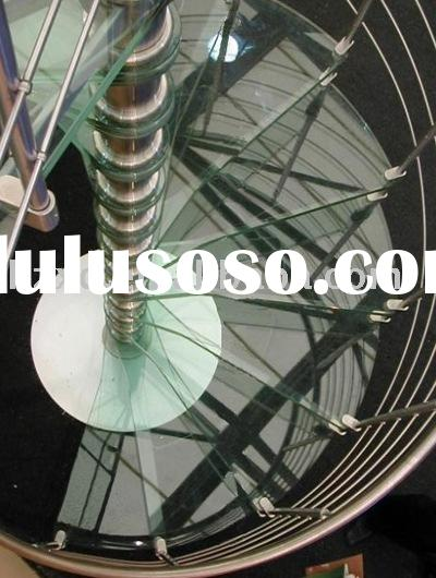 Stainless Steel Glass Spiral Staircase