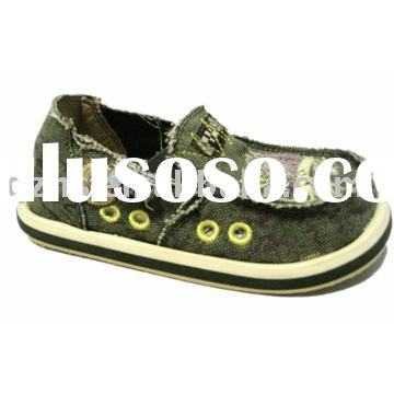 (Factory) cheap kids canvas slip on shoes