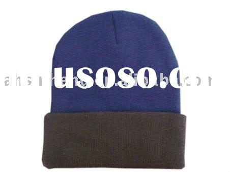 fashion acrylic knitted beanie