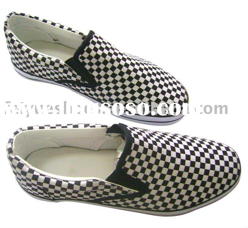 men slip-on casual canvas shoes