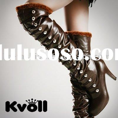 wholesale ladies winter long kvoll leather boot