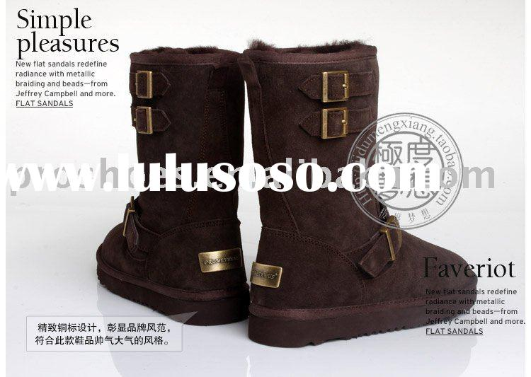 wholesell women winter sheepskin boots .winter snow boots for lady