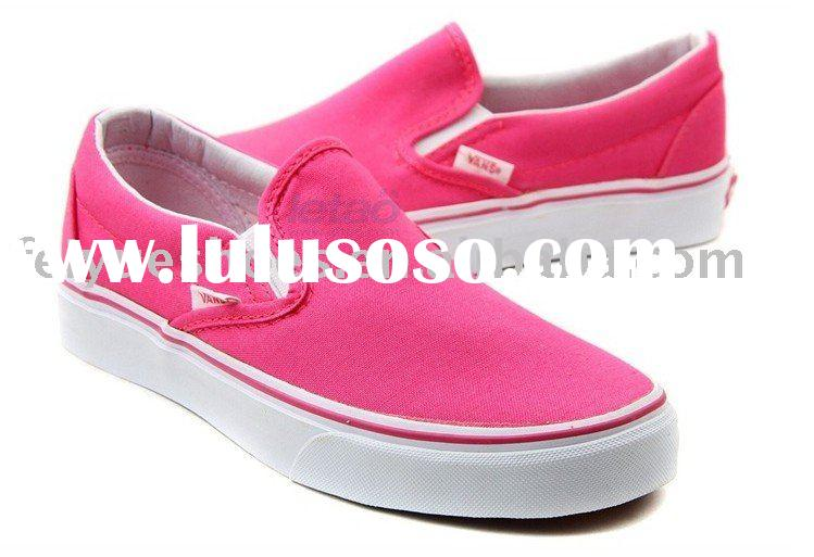 women slip on fashion casual vans canvas shoes