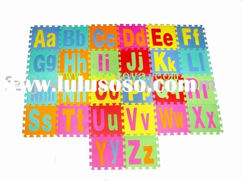 26 pieces alphabet puzzle play mats for kids