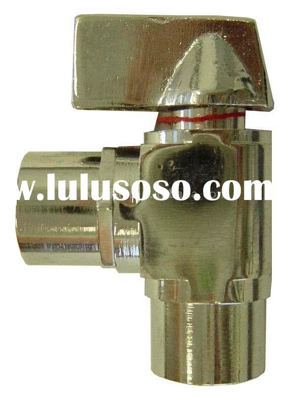Angle brass water stop valve