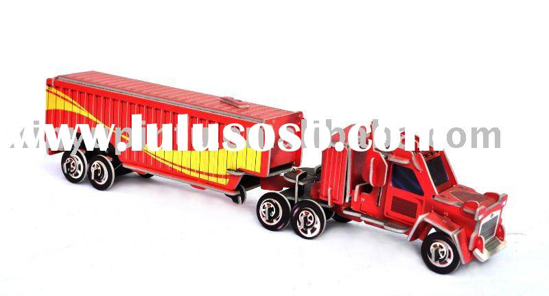Container trucks jigsaw puzzle educational toys