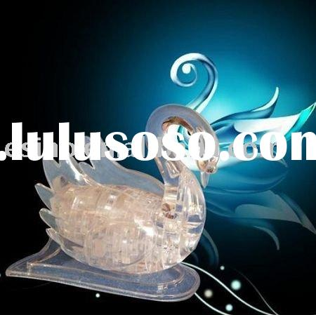 Crystal Swan- 3D Crystal Puzzle Swan Transparent and Pure Swan
