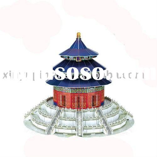 Hot sell good gift Paper 3D jigsaw Puzzle toys- TAIPEI 101