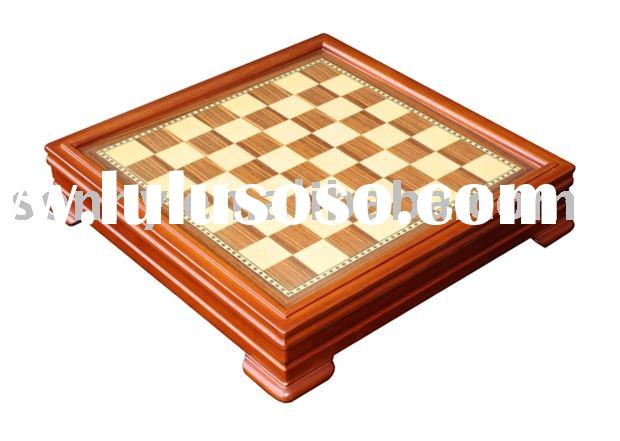 Multicomponent Wooden Chess Game