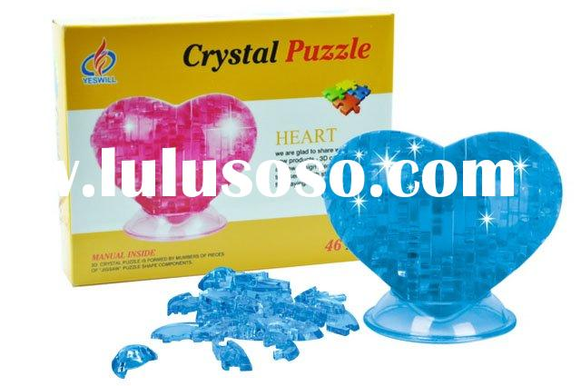Sweet heart 3D Crystal Puzzle,Designer Toys