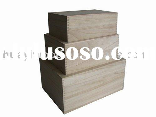 Unfinished Wood Gift Boxes