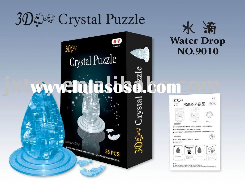 new stlye 3D crystal water Drop Puzzle intelligence toys