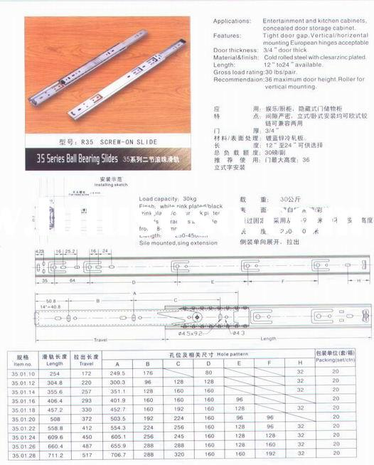 Ball bearing drawer  slides