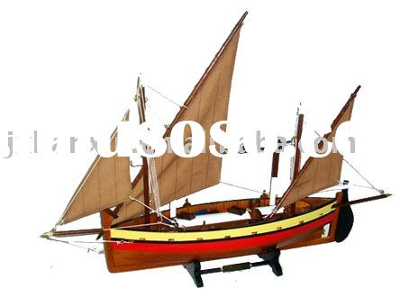 Hot sale new wood craft gifts house decoration wooden model yacht crafts