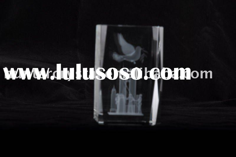 Peace Pigeon 3D Laser Crystal,Best Animal Crystal Souvenirs's Gift