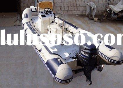 Rigid inflatable boat/hypalon material or PVC material