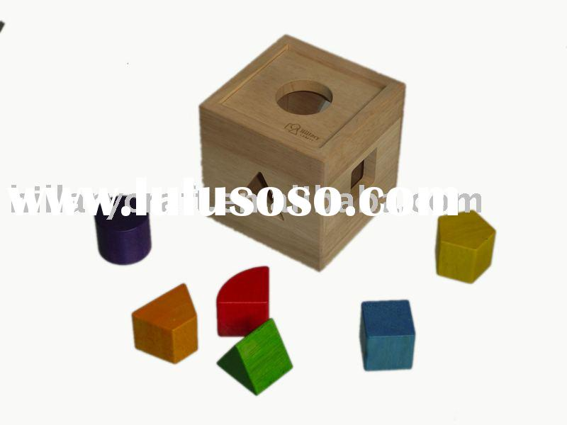 Wooden IQ puzzle cube