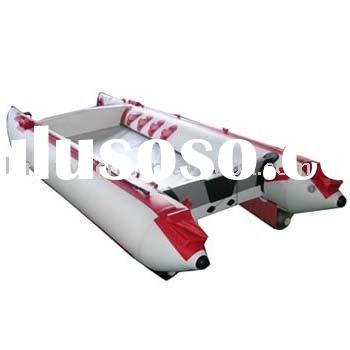 high speed boat with plywood floor