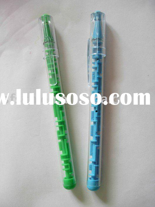 puzzle plastic ball pen