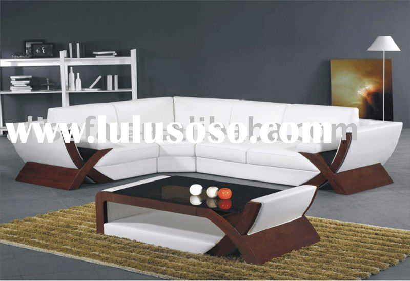 2011 Best Sale white leather Corner sofa FX21
