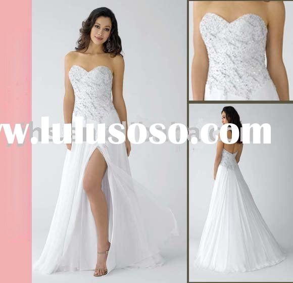 2011 Most Popular White Evening Dress Patterns