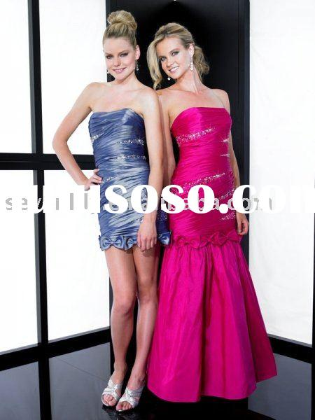 2011 New Detachable Skirt Prom Dresses