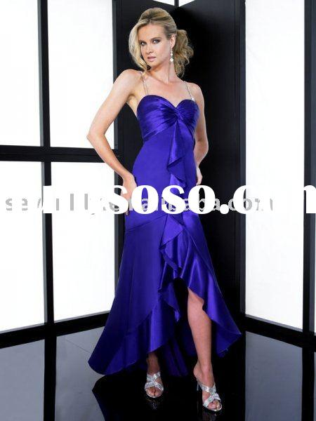 2011 New Stunning Drop Waist High Low Hem Prom Dresses