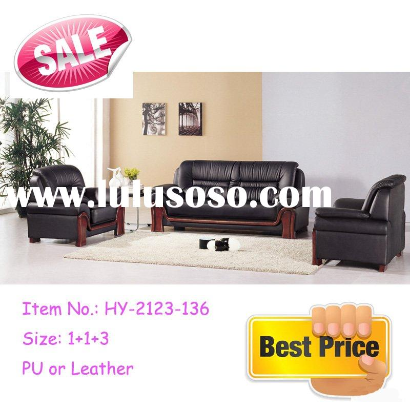 2011 good quality solid wooden frame offie sofa leather sofa set