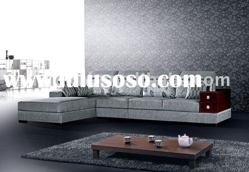 2011 modern wooden fabric sofa set designs 846A...