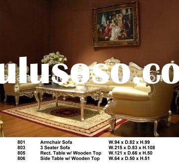 Antique high quality European style living room sofa set