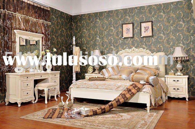 Bed room Furniture Set & French country style & Solid Wood