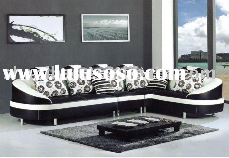 Black & White Leather Sofa